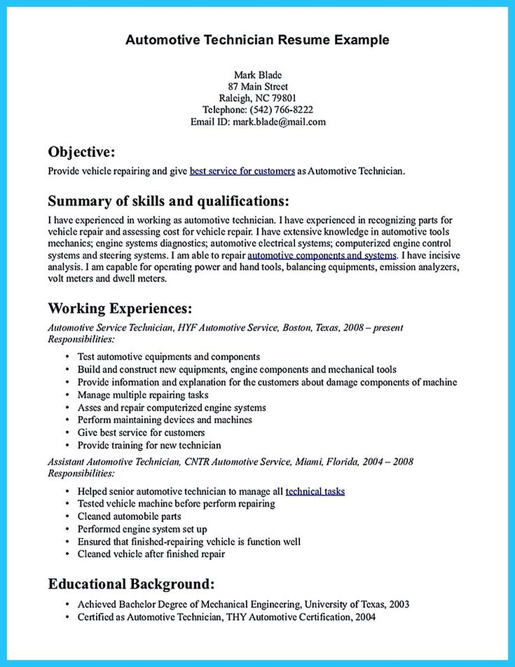 cool Arranging a Solid Automotive Resume,