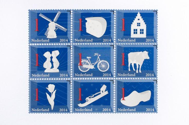 Dutch Icons - new stamp collection 2014 - Joachim Baan & Fleur Derogee