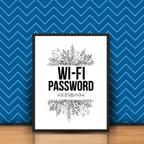 Home wifi code * personalised * a4 print  * free p&p  | eBay