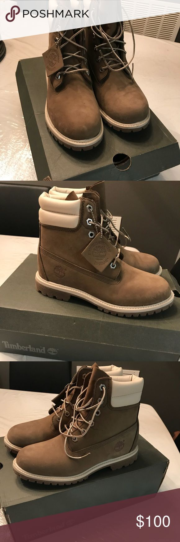 BRAND NEW OLIVE GREEN TIMBERLAND BOOTS (WOMENS) These shoes are a size 7! These Timberlands are BRAND NEW and never worn and comes with the original box! The color is olive green! Timberland Shoes Combat & Moto Boots