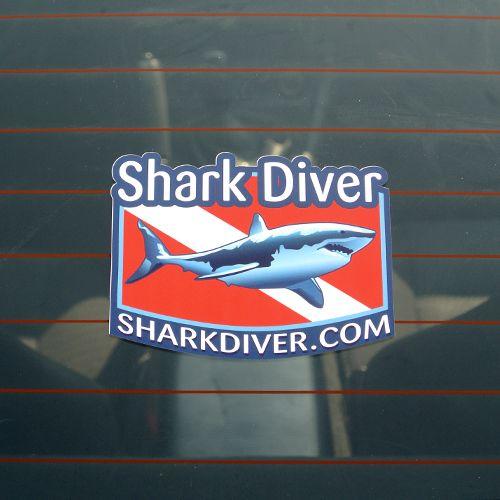 Shark Diver Custom Die Cut Stickers