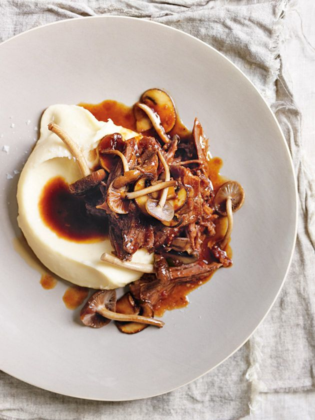 brisket ragù with mushrooms and parmesan mash from donna hay