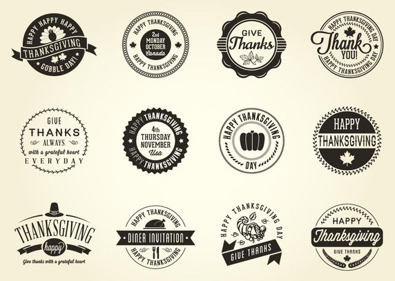 10 Thanksgiving Vectors to be Thankful For!