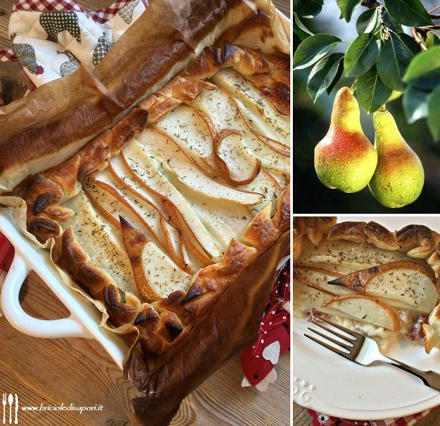 Briciole di Sapori: Torta salata con taleggio, pancetta e pere