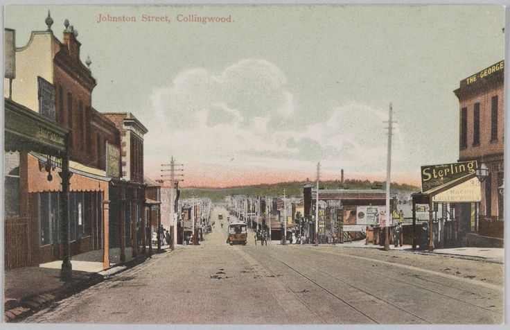 Johnston Street, Collingwood, c1906. This cable tram route was closed in April 1939 and replaced by buses. Photograph courtesy State Library Victoria.