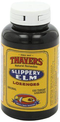 Thayers Slippery Elm Lozenges Plain 150 loz   Multi City Health  List Price: $16.39 Discount: $5.22 Sale Price: $11.17