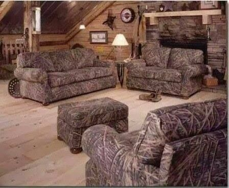 Camo living room furniture. I want this so bad!!