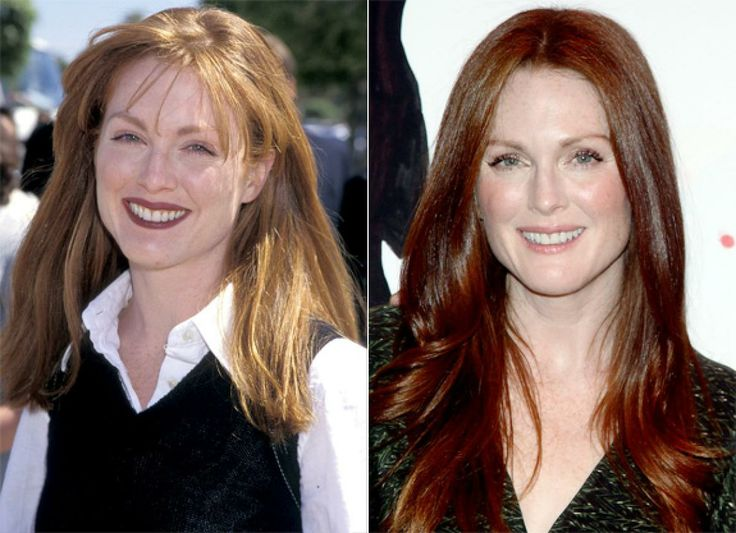 It's easy to see that Julianne Moore is looking even better than ever - swapping her '90s red lipstick for fiery red locks.
