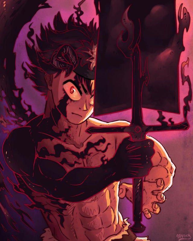Asta with the demon slayer sword - BlackClover in 2020 ...