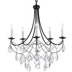 Empress Crystal 5-Light Wrought Iron Chandelier sale $222