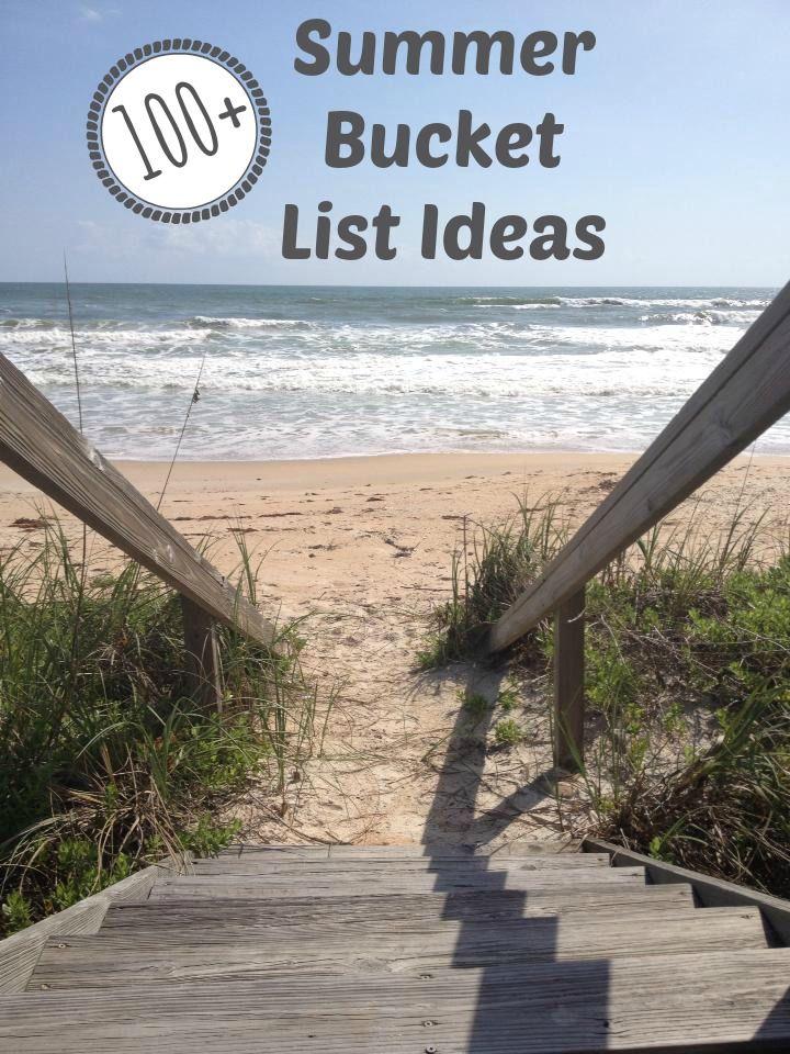 Summer bucket list...all sorts of ideas for a fun summer!