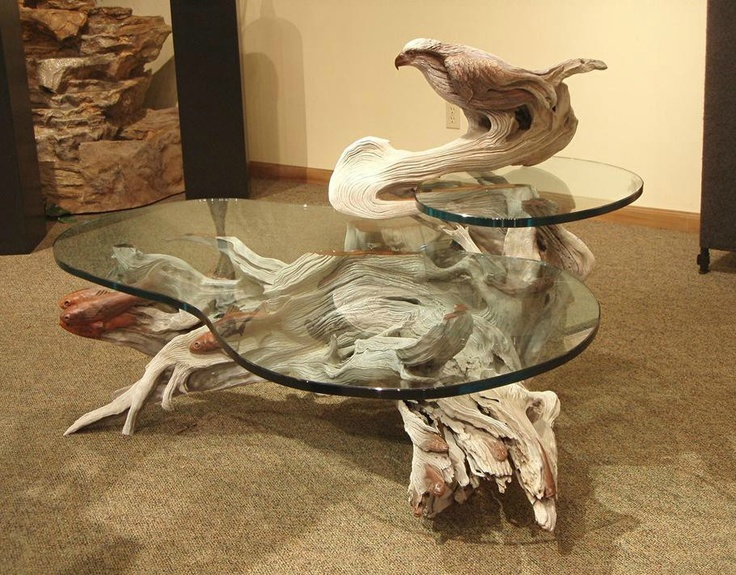 """PAUL A. BALIKER is an artist who creates sculptural furniture from wood. This piece is the """"Osprey Table"""" / Sculpture by Paul Baliker"""