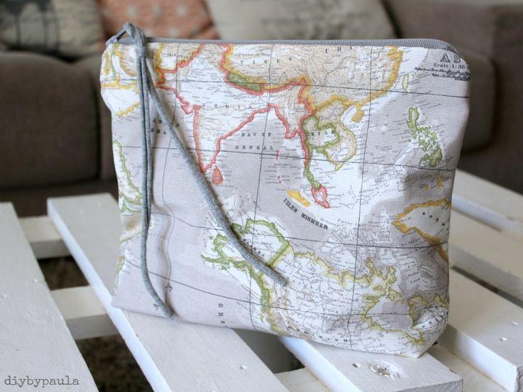 Tutorial: Pouch de tela mapamundi #desafioRIBESYCASALS * | Handbox Craft Lovers | Comunidad DIY, Tutoriales DIY, Kits DIY