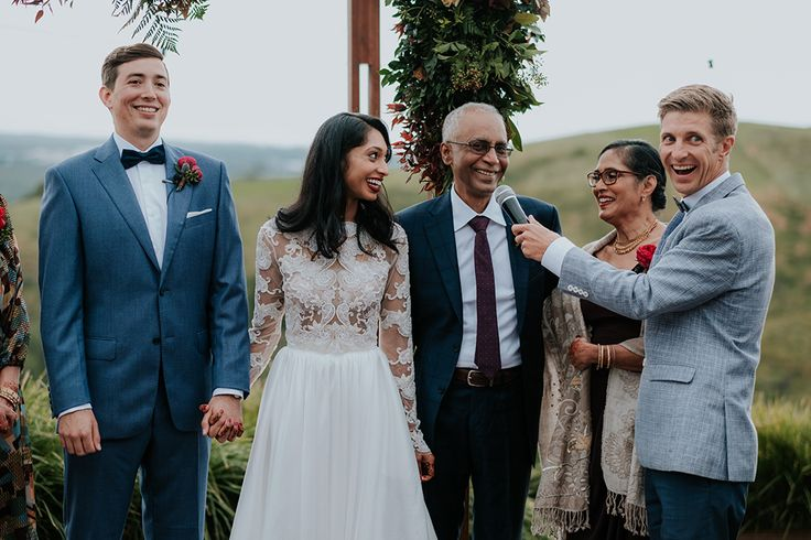 Major LOL's with Ashta's Dad during her amazing Horizon Byron Bay wedding with her very dapper Anthony!! I think I asked about that 1 time our Groom asked for his daughter's hand in marriage over the phone from Singapore. Dad's reply was bloody funny!! Photo - Van Middleton Photography / Planning - Byron Bay Weddings / Styling - The Wedding Shed / Flowers - Flowers by Julia Rose / Beauty - Ava Belle Brida / Catering -  Feast Events