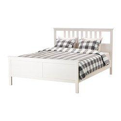 IKEA - HEMNES, Bettgestell, 180x200 cm,  , , Aus Massivholz, einem strapazierfähigen, lebendigen Naturmaterial.Durch verstellbare Bettseiten können Matratzen in verschiedenen Stärken verwendet werden.
