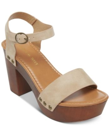 092bad7d331 Madden Girl Lift Wooden Platform Sandals - Tan Beige 7.5M