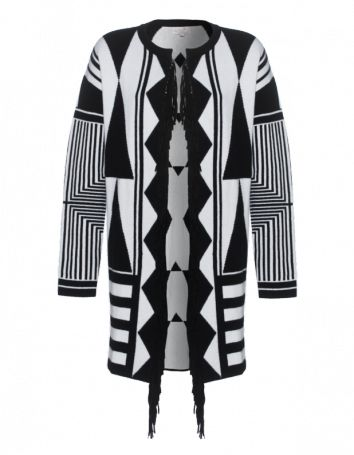 Rosa von Schmaus Long Fringe Black & White