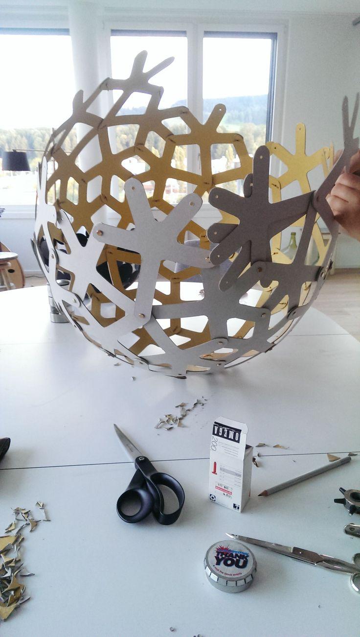 DIY coral lamp
