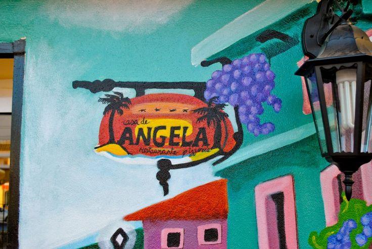 Detalle del mural restaurante Casa de Ángela. Los alcázares, Murcia