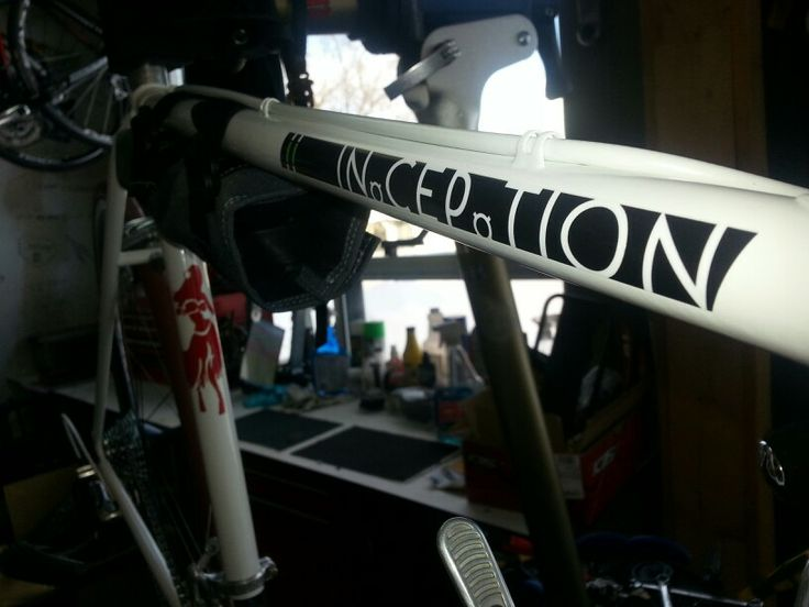 Decals added to my bike for the ride.