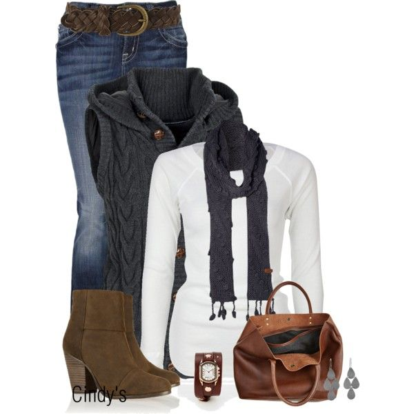 """Vest and Jeans"" by cindycook10 on Polyvore"