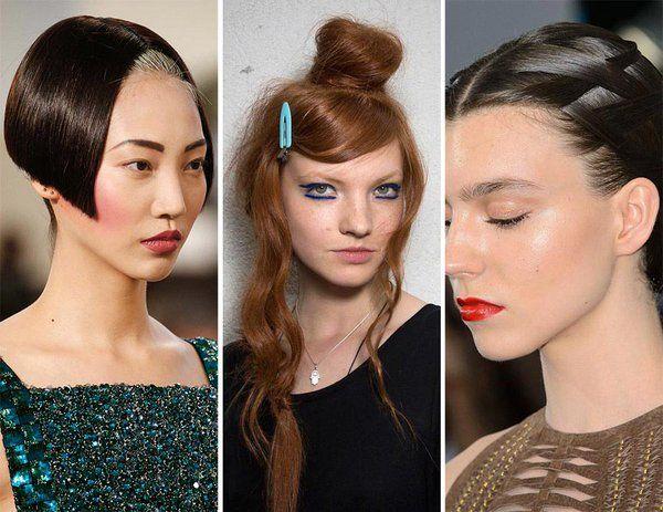Основные косметические тренды осеннего сезона 2015  -прямые брови; -смелые и необычные прически.
