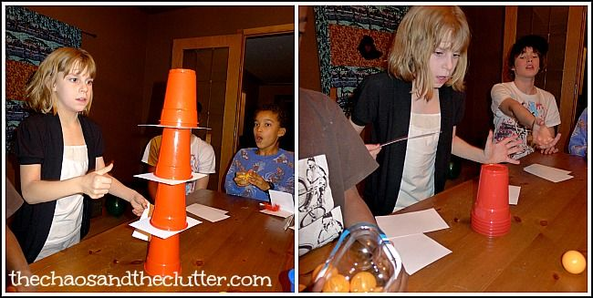 Minute to Win It Game - would be fun to do a family game day with minute to win it games!