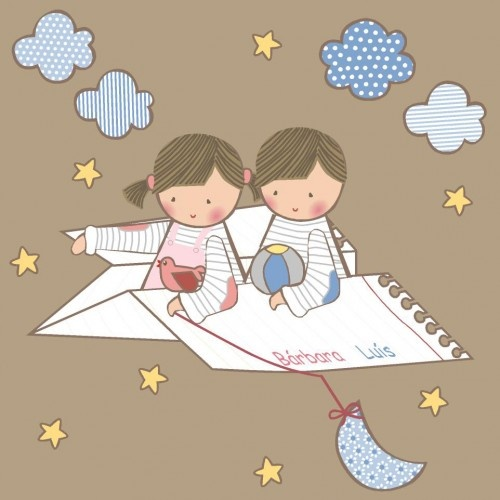 Vinilos infantiles: Avión de papel - Vinilos infantiles personalizados