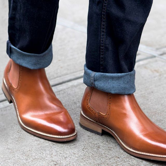 6c7f61380f99a Trading in dress shoes for #JosephAbboud chelsea boots today ...