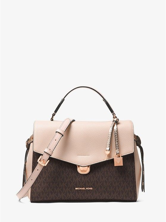 f05cdcaa7d9c MICHAEL Michael Kors Bristol Logo Satchel $348 - Soft meets structured on  our Bristol satchel, crafted from a mix of pebbled leather and our  signature logo ...