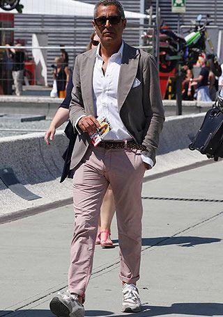40代・50代×ピンクパンツの着こなし(メンズ) | Italy Web