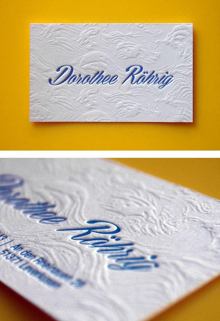 Personal business card by Letterpress Café