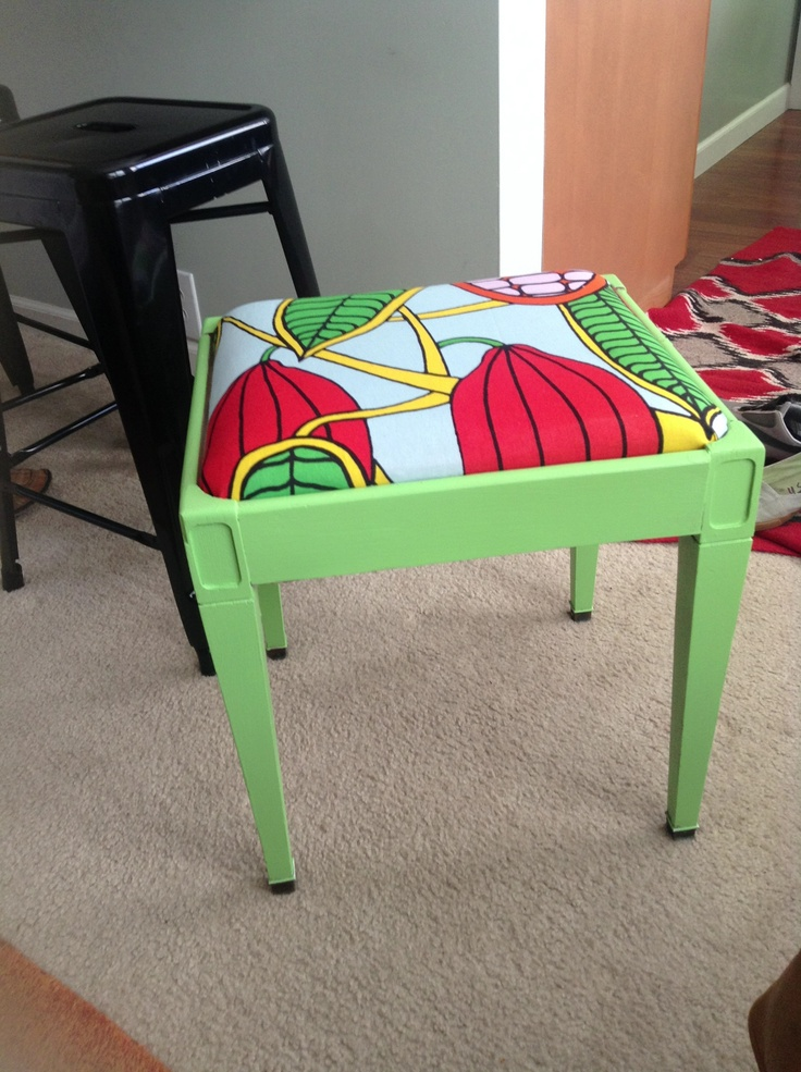 My marimekko DIY project, got the stool for zero dollars, wish I would have taken a before pic.