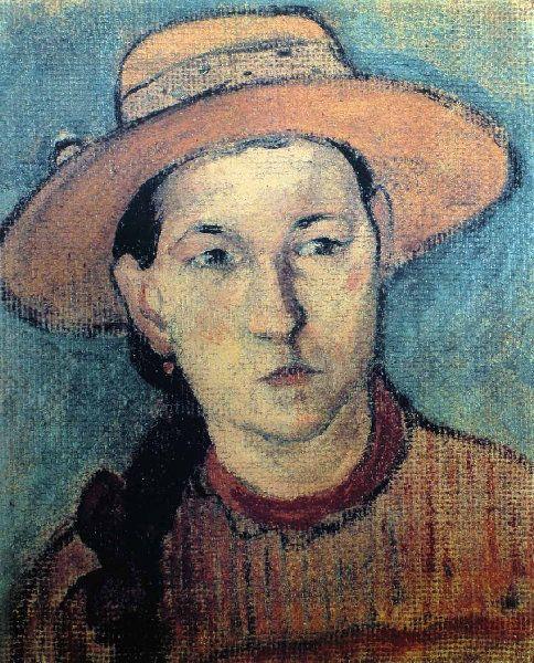 Paul Gauguin - Post Impressionism - Papeete - Drawing - Young metisse portrait - Tête de jeune Métisse - 1891