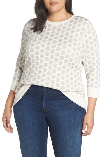Enjoy Exclusive For Halogen X Atlantic Pacific Shimmer Dot Sweater