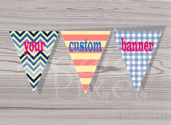 #Custom #Party #Banner  Personalized Party by ArigigiPixel on Etsy