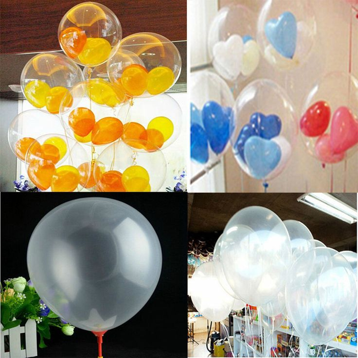 """Wholesale 20/50/100 Transparent Latex Balloons Birthday Wedding Party Decor 10"""" #New #Party"""