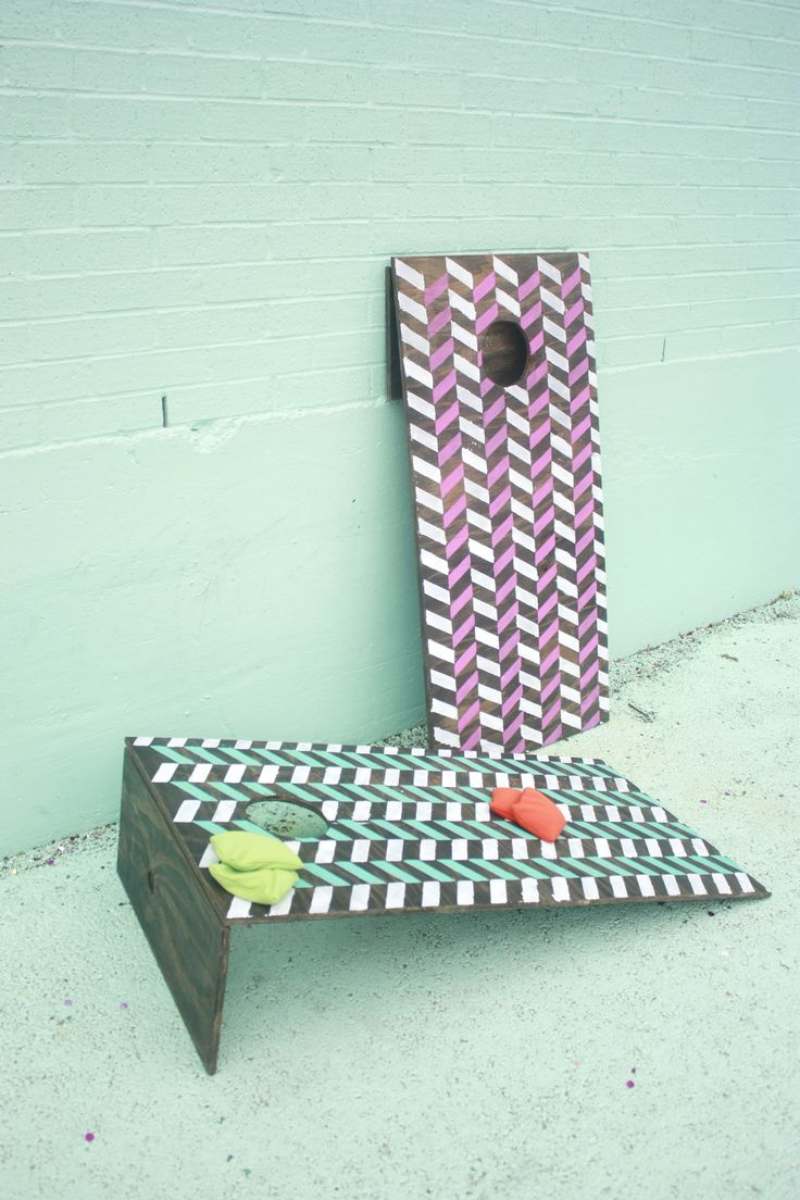 We made a set of cornhole boards that are lightweight and compact for easy carrying and easy storage! Follow this tutorial to make a set of your own.