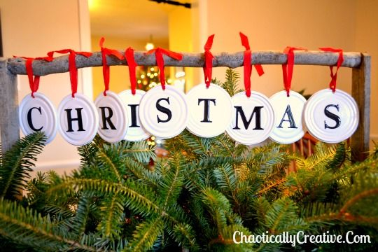 craft christmas in july can lids, christmas decorations, crafts, repurposing upcycling, seasonal holiday decor