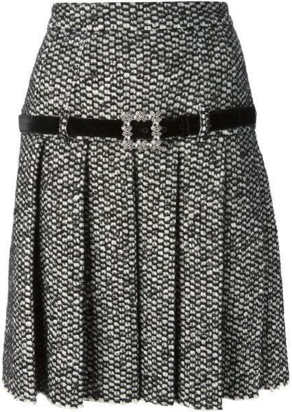 Dolce & Gabbana Pleated Skirt in Black