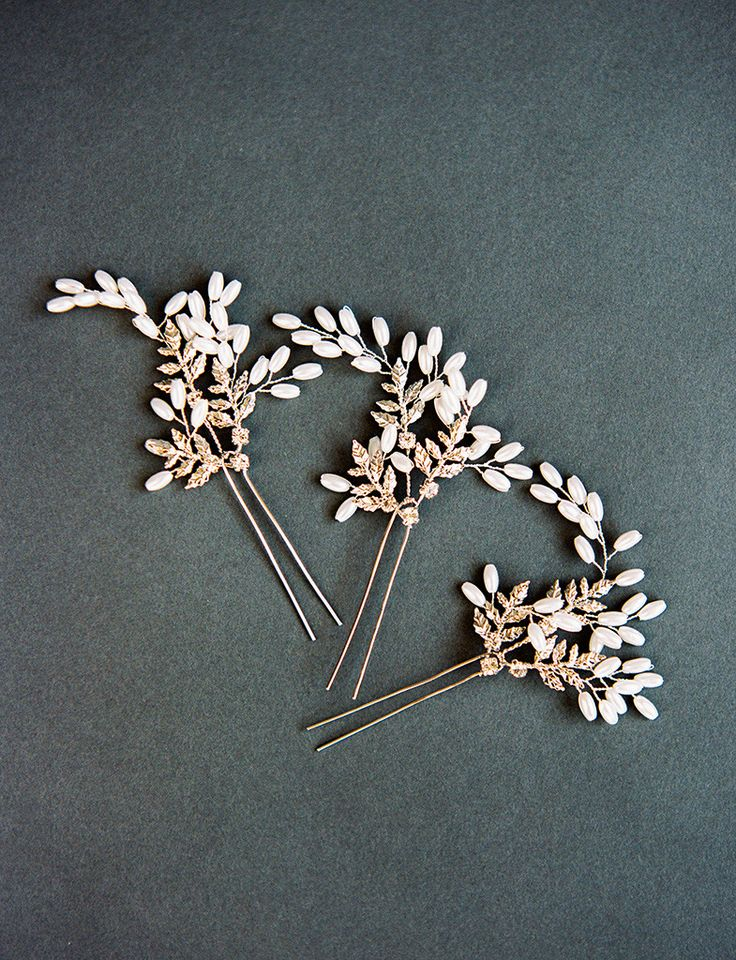MARGEAUX HAIR PIN - SILVER