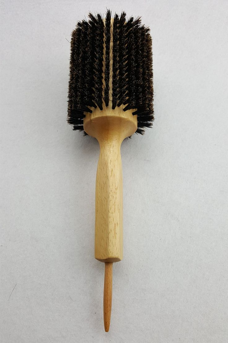 1 Piece Wooden Hair Brush With Boar Bristle Mix Nylon Round Hair Brush Hairstyling Brush GIC-HB509 (50mm) Free Shipping