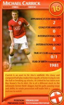 2007 Top Trumps Specials Manchester United #NNO17 Michael Carrick Front