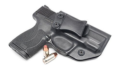 Concealment Express IWB KYDEX Holster: fits S&W M&P Shield .45 ACP - US Made - Inside Waistband Holster - Adj. Cant & Retention (Black - Right Hand):   PLEASE VERIFY YOUR COLOR & HAND SELECTION! Concealment Express Inside the Waistband (IWB) Concealed Carry Holsters are designed and built in the USA using only top quality components and with functionality and comfort in mind. Our holsters are specifically molded to each gun model for that perfect, custom fit. They are designed to be wo...