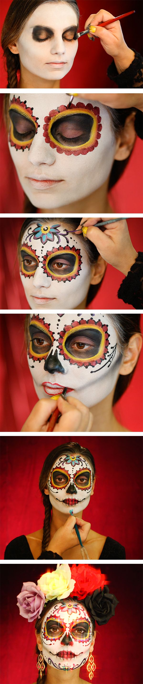 How do we celebrate the Day of the Dead? With a lot of spirit and a lot of style! Click to view the full video tutorial :)