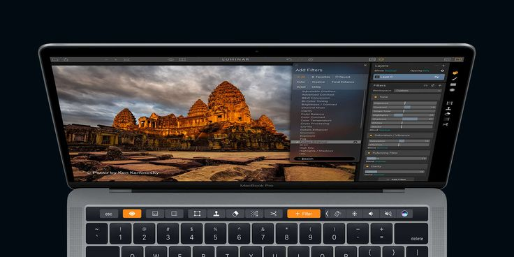 Photo-editing Mac app Luminar adds support for MacBook Pro's new Touch Bar   Cult of Mac