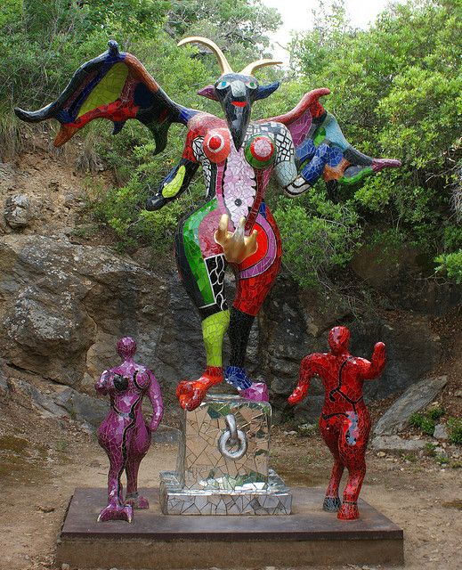 """The devil"" in the Tarot Garden of Niki de Saint Phalle, Capalbio, Costa d'Argento, Maremma, Tuscany, Italy"