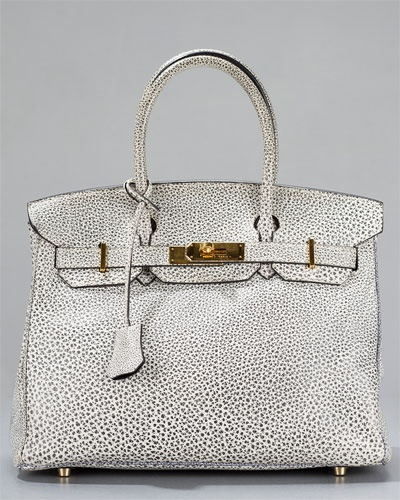 Hermes Dalmatian Buffalo Leather 30cm Rare Collector's Birkin Bag. Sold Out, but still worthy of pinning and pining