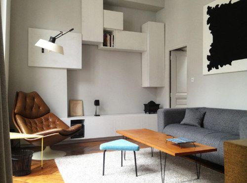 Interior architect Charlotte Vauvillier#mid century, #architecture, #MCM, #modern, #design, #modernism