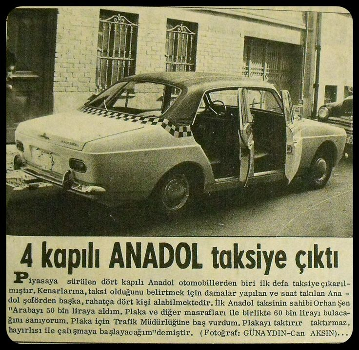 Anadol Taxi edition